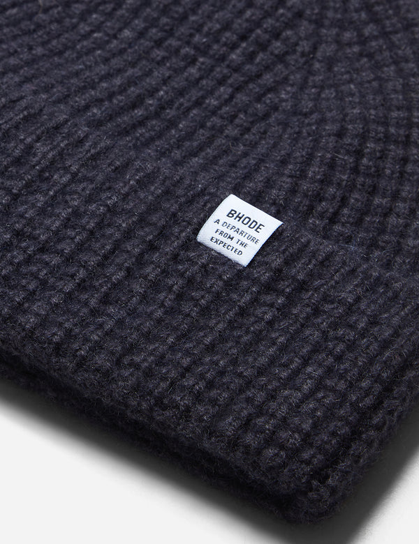 Bhode 'Pineapple' Scottish Texture Beanie Hat (Lambswool) - Millstone Grey