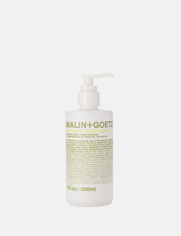 Malin+Goetz Hand & Body Wash 250ml - Rum