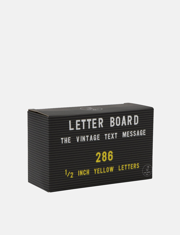 Jay MFG. CO. Letter Board Letters (1/2 Inch) - Yellow