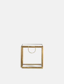 Dassie Artisan Dacia Glass Display Box (Small) - Brass