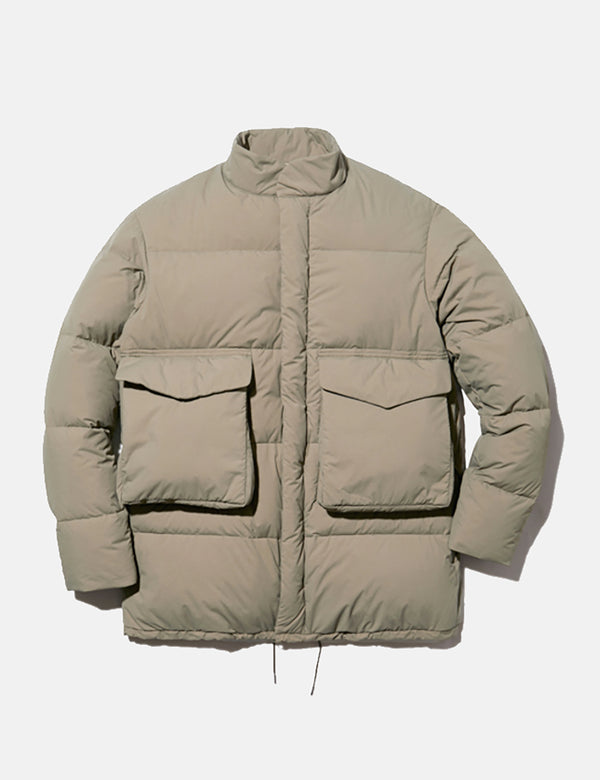 Snow Peak Recycled NY Ripstop Down Jacket - Beige