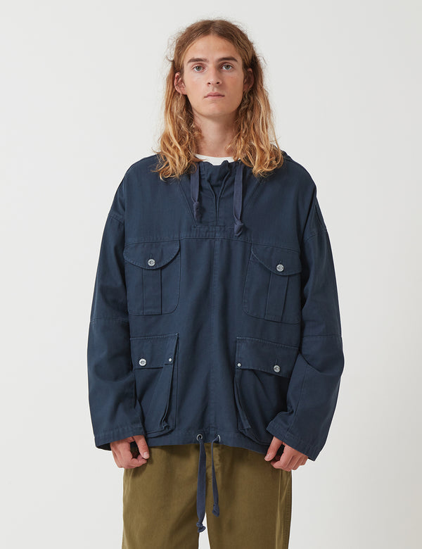 Nigel Cabourn British Army Smock Jacket - Black Navy