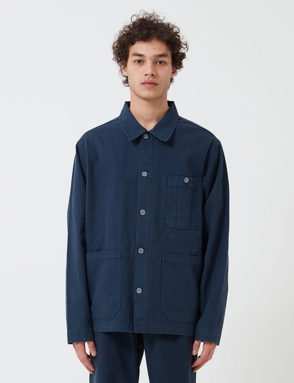 Nigel Cabourn British Army Jacket (Cotton Herringbone) - Black Navy
