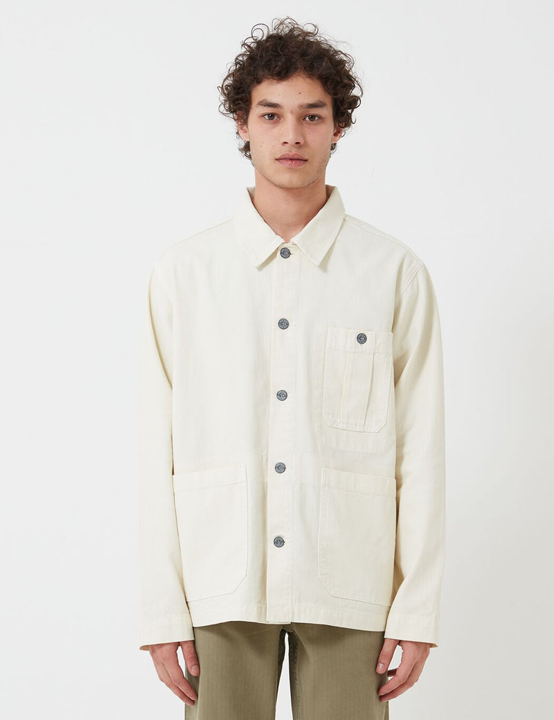 Nigel Cabourn British Army Jacket (Cotton Herringbone) - Chalk White