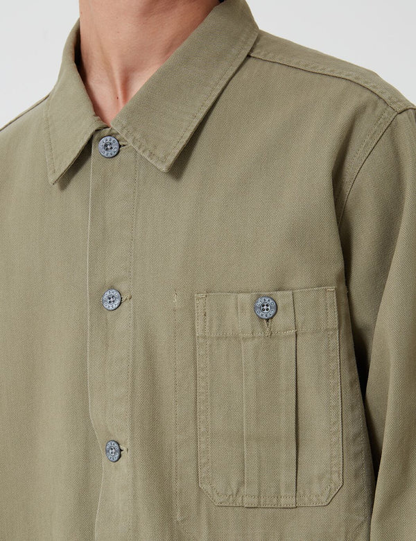 Nigel Cabourn British Army Jacket (Cotton Herringbone) - Army Green