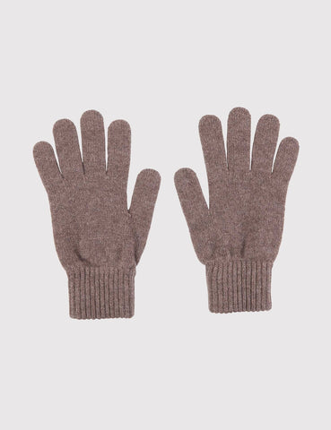 Johnstons of Elgin Cashmere Gloves (Unisex) - Driftwood Brown