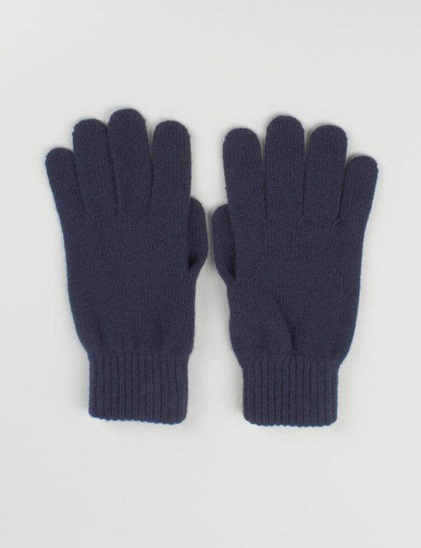 Johnstons of Elgin Cashmere Gloves (Unisex) - Navy Blue