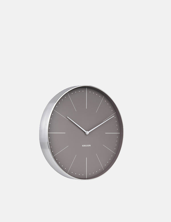 Karlsson Wall Clock Normann Station - Warm Grey