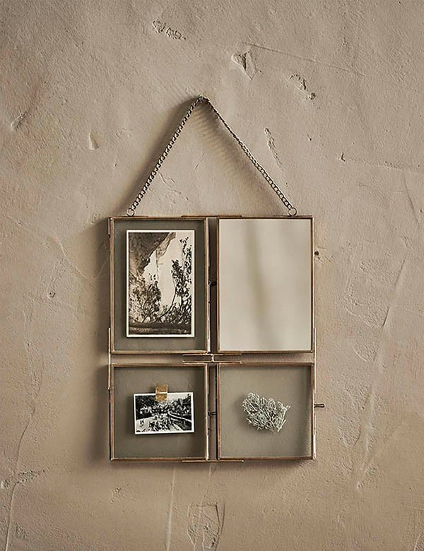 Nkuku Kiko Collage Frame (31 x 26 x 1cm) - Antique Brass