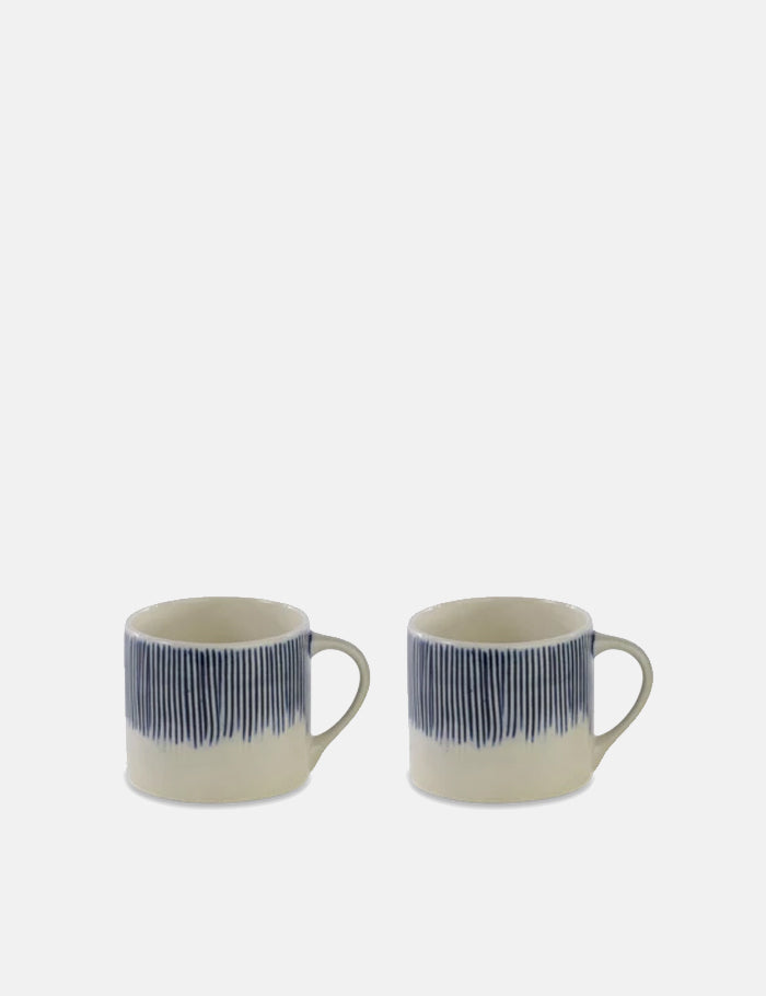 Nkuku Karuma Ceramic Mug (Short) - Blue and White