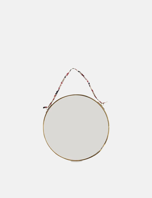 Nkuku Kiko Round Mirror (Small) - Antique Brass