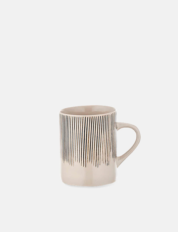 Nkuku Karuma Ceramic Mug (Tall, Large) - Black and White