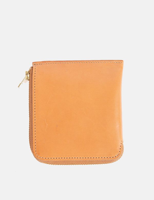 Folk Zip Wallet - Tan Brown