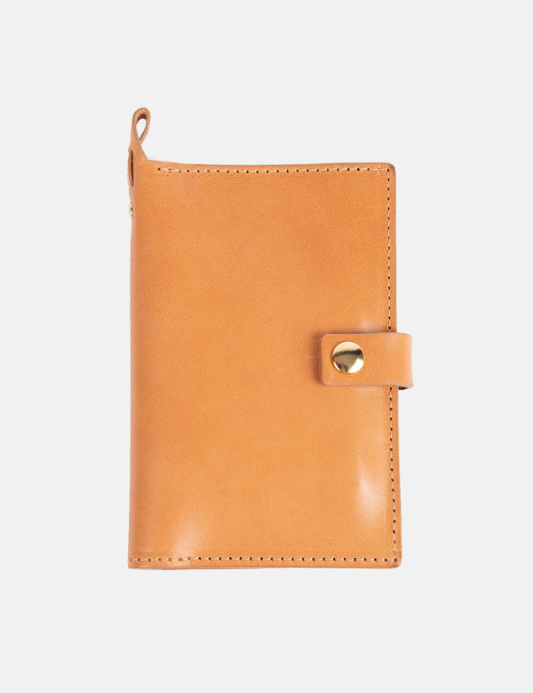 Folk Card Holder - Tan Brown