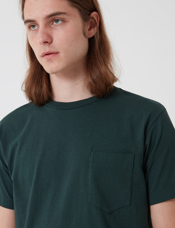 Lady White Co. Balta Pocket T-Shirt - Hunter Green