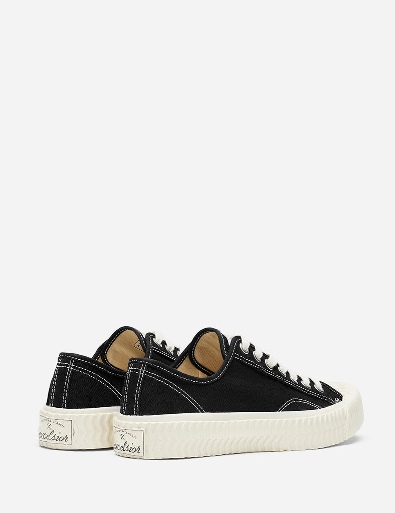 Excelsior Bolt Low Canvas Trainers - Carbon Black