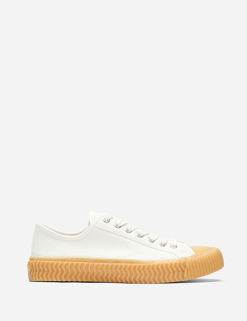 Excelsior Bolt Low Canvas Trainers - White (Gum Sole)