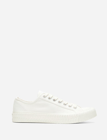 Excelsior Bolt Low Canvas Trainers - White/White