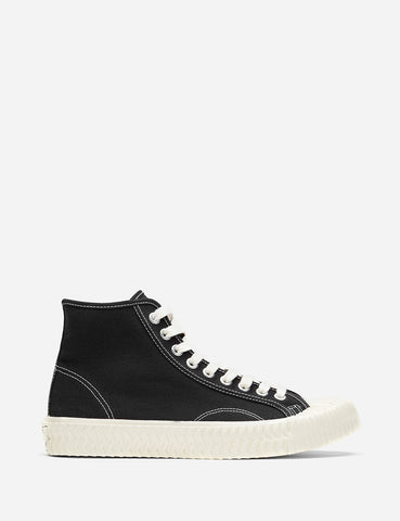 Excelsior Bolt Hi Canvas Trainers - Carbon Black