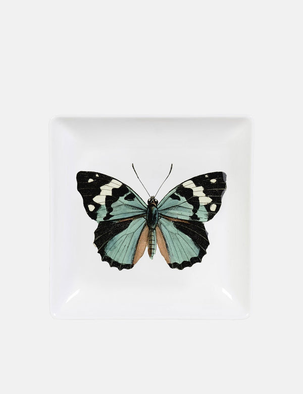 Cubic Butterfly Trinket Tray - White