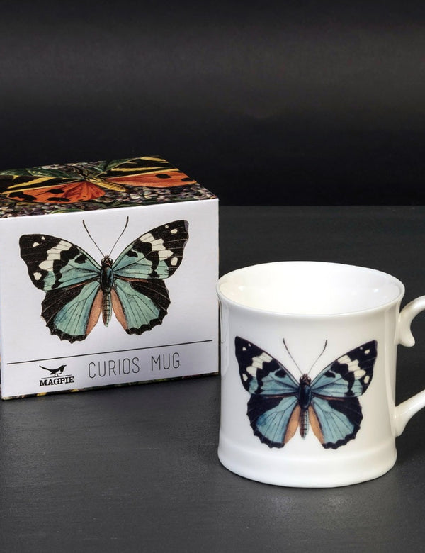 Cubic Butterfly Mug - White - Article