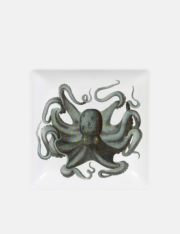 Cubic Octopus Trinket Tray - White