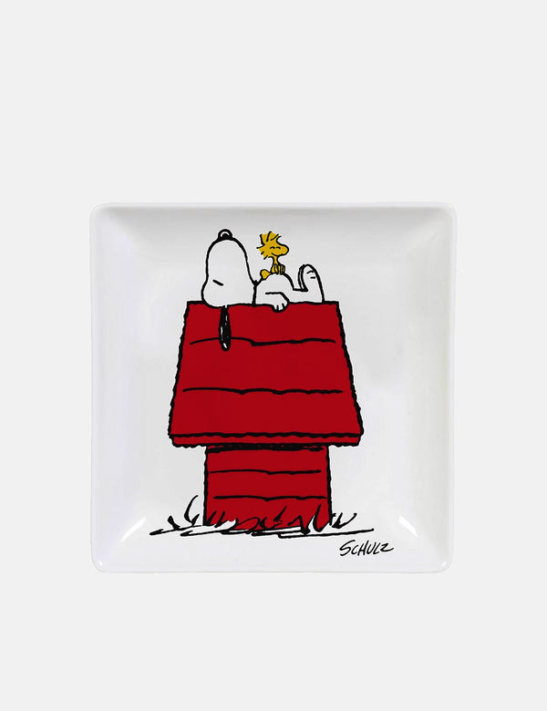 Magpie X Peanuts Snoopy Home Trinket Tray (Square) - White