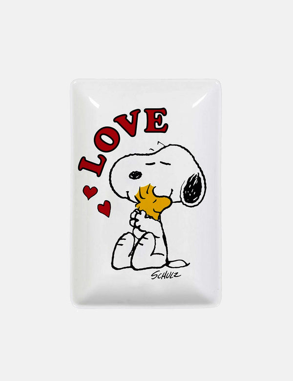 Magpie X Peanuts Snoopy Love Trinket Tray (Rectangular) - White