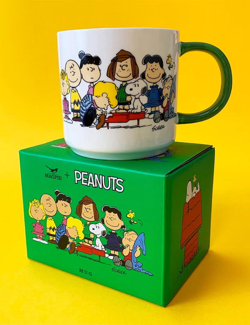 Magpie X Peanuts Gang and House Mug - White