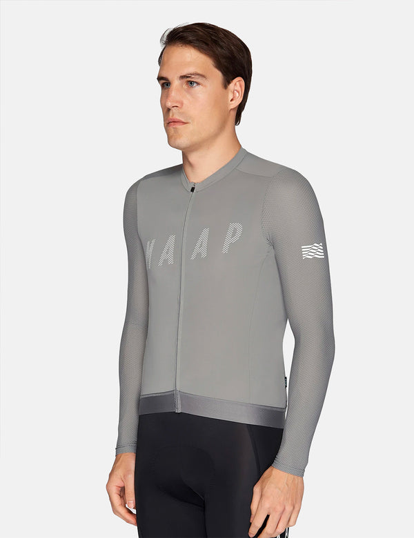 MAAP Echo Pro Base L/S Jersey - Ash Grey