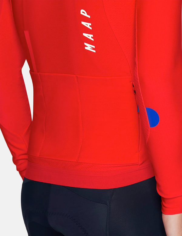 MAAP Force Pro Long Sleeve Jersey - Chilli Red
