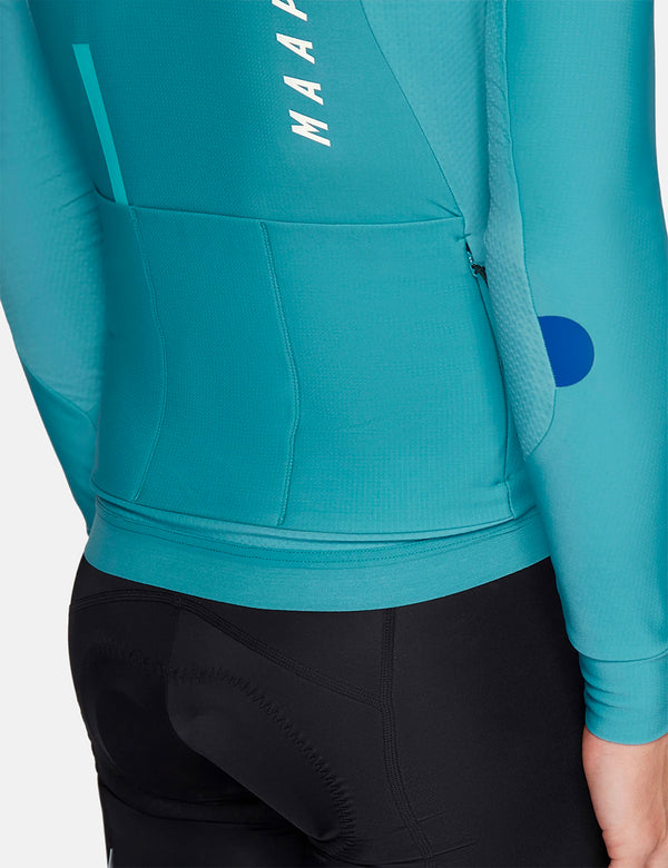Maillot MAAP Force Pro LS - Cyan