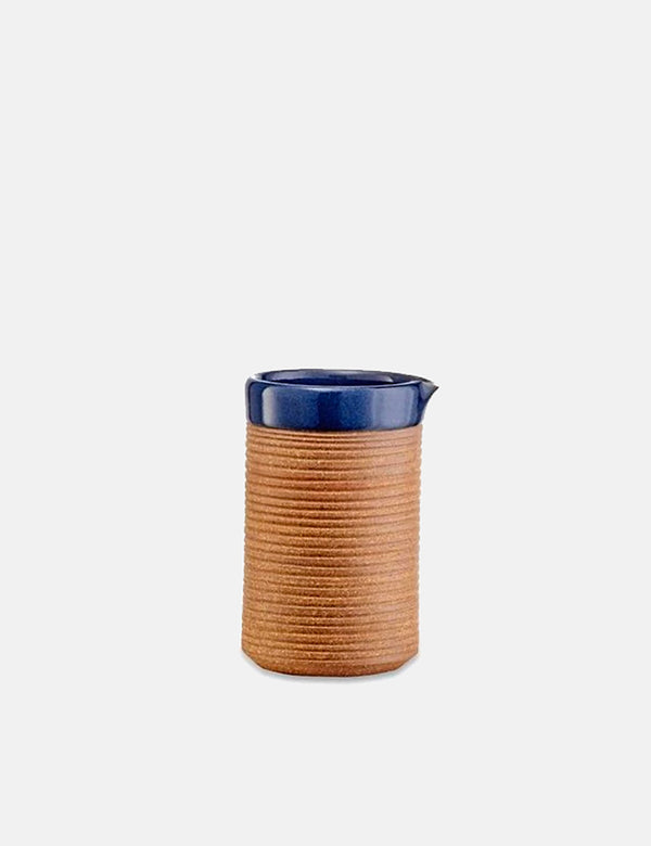 Nkuku Mali Ribbed Jug (Terracotta) - Navy Blue