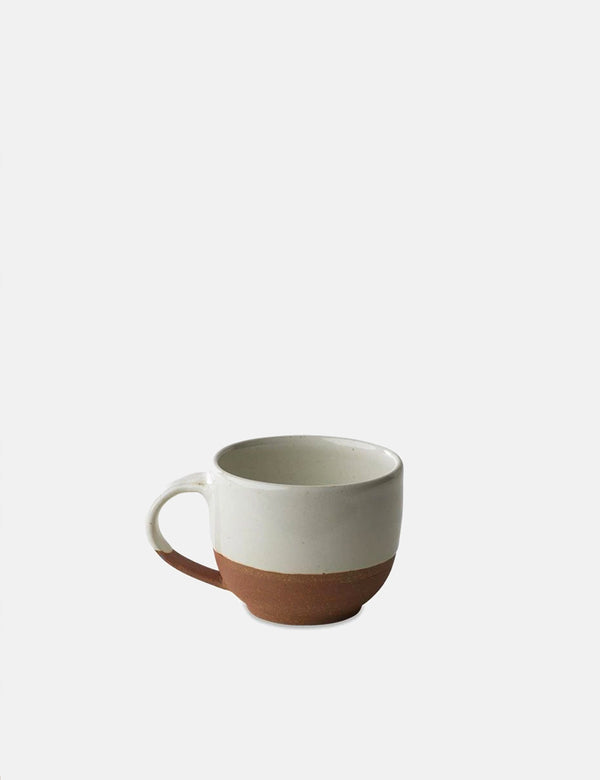 Nkuku Mali Coffee Mug - White and Terracotta