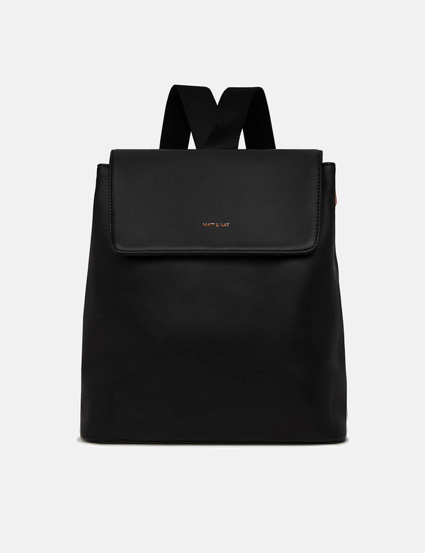Matt & Nat Annex Backpack (Vegan Leather) - Black