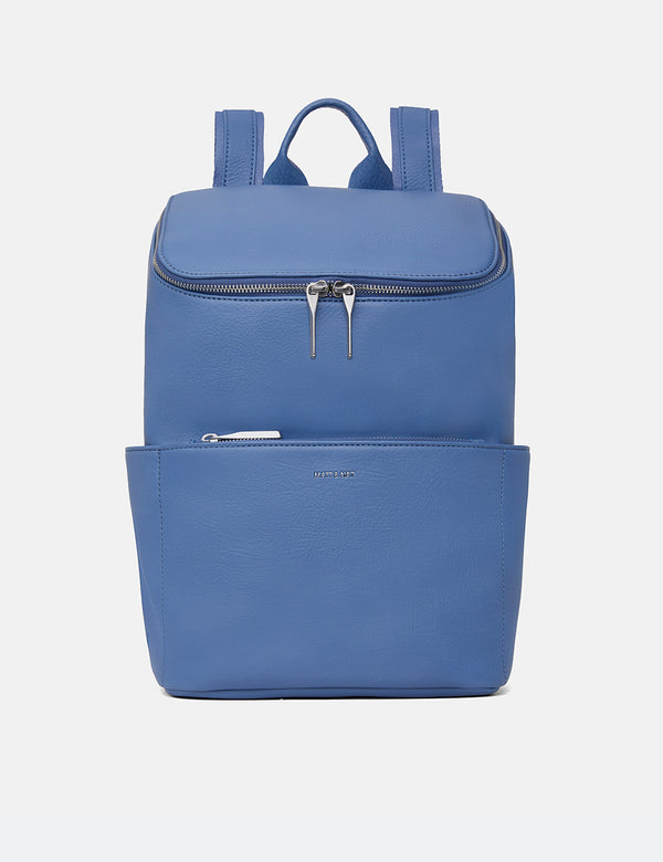 Matt & Nat Brave Backpack (Vegan Leather) - Lake Blue