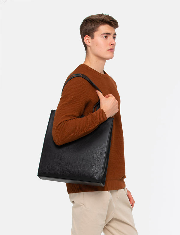 Matt & Nat Canci Tote Bag (Vegan Leather) - Black