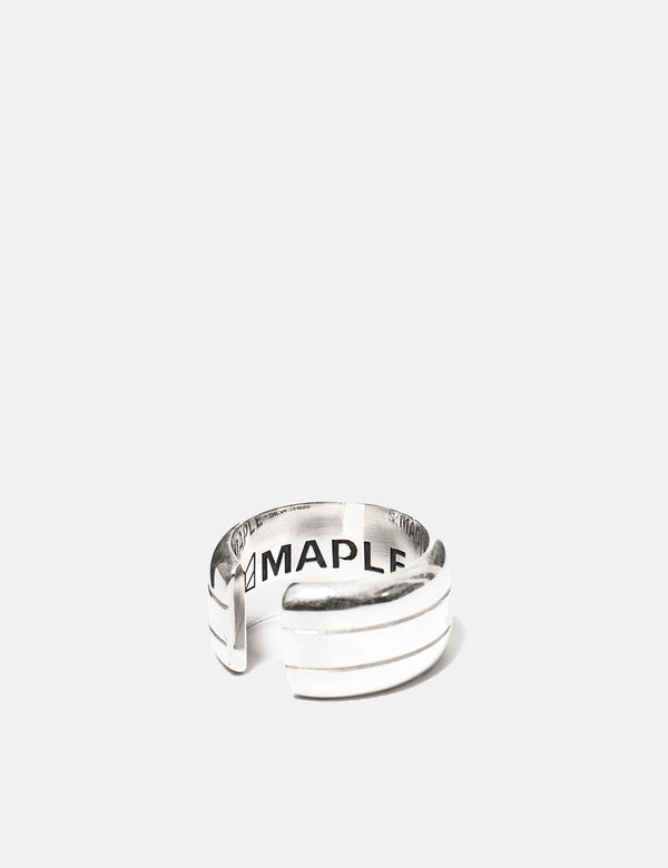 Maple Line Ring - Silber 925