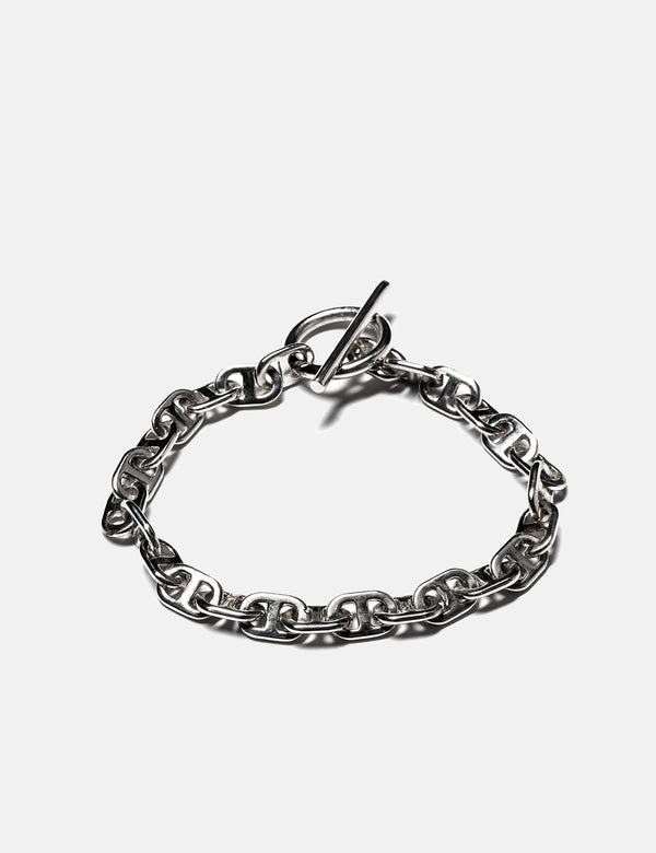 Maple Chain Link Bracelet (7mm) - Silver 925