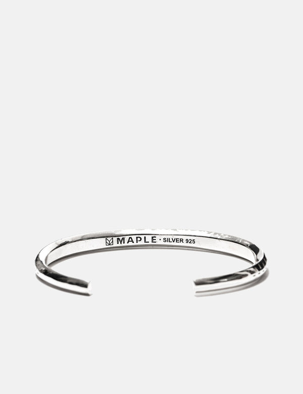 Maple Bandana Bangle - Silver 925