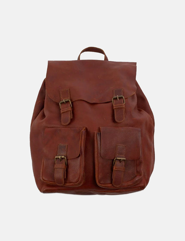 Nkuku Maya Rucksack (Leather) - Dark Tanned