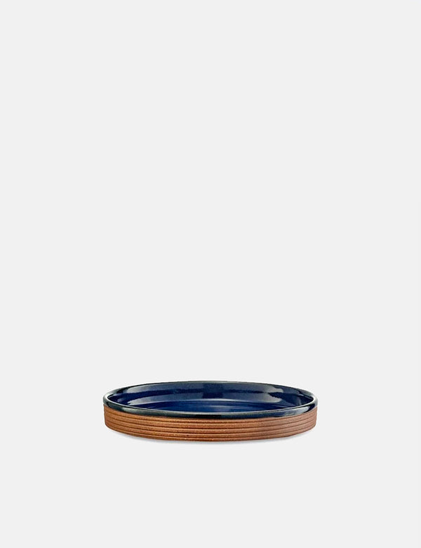 Nkuku Mali Ribbed Tray (Terracotta) - Navy Blue