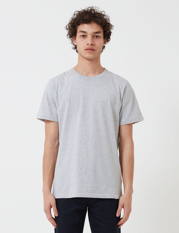 Norse Projects Niels  Standard T-Shirt (Organic Cotton) - Light Grey Heather