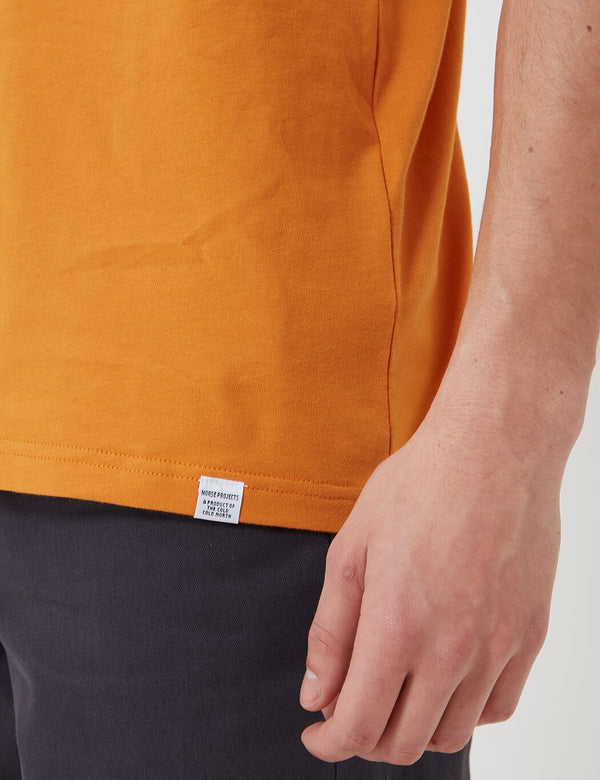 Norse Projects Niels Standard T-Shirt (Organic Cotton) - Cadmium Orange