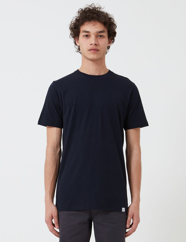 Norse Projects Niels Standard T-Shirt (Organic Cotton) - Navy Blue
