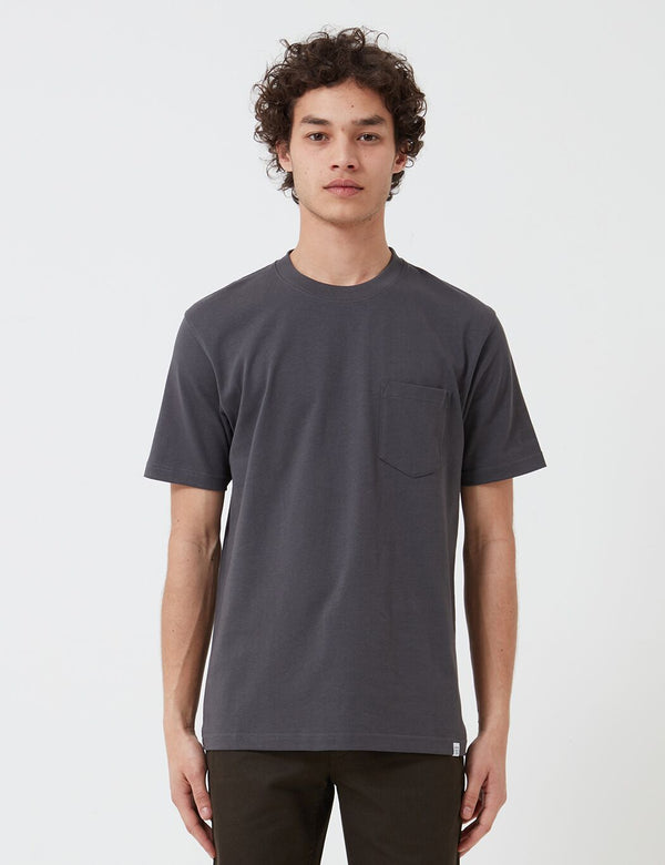 Norse Projects Johannes Pocket T-Shirt (220gsm Cotton) - Slate Grey