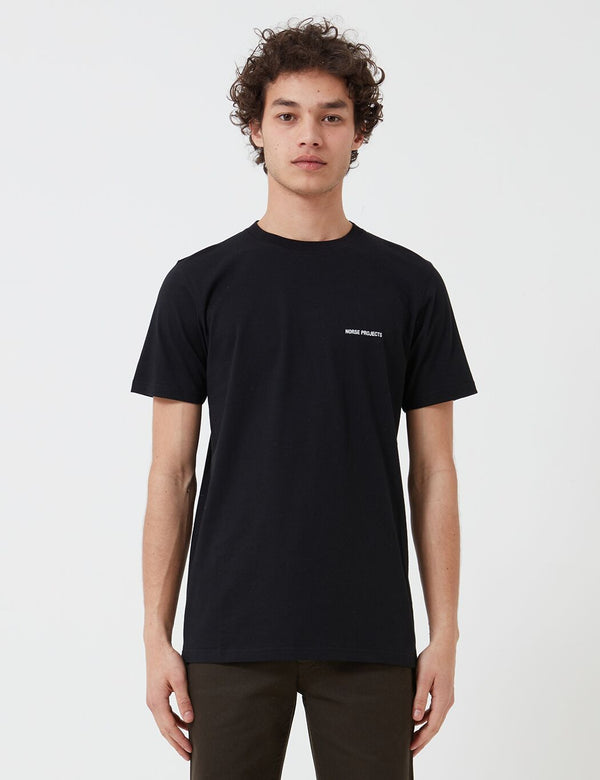 Norse Projects Logo T-Shirt (Organic Cotton) - Black