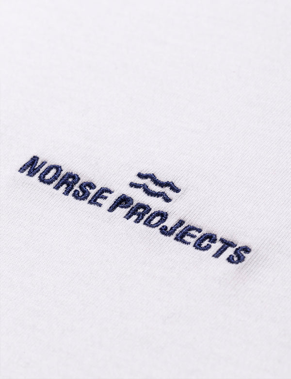 T-Shirt à Logo Wave Norse Projects Niels Norse Projects - Blanc