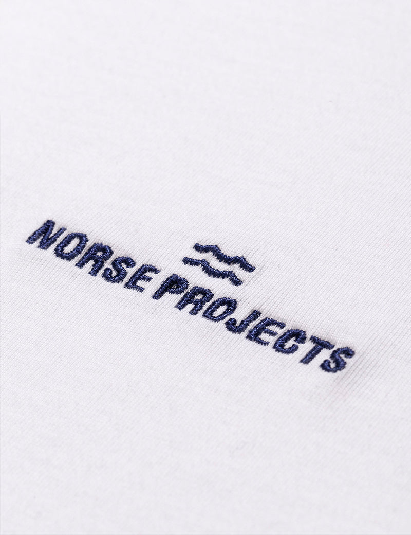Norse Projects Niels Norse Projects Wave Logo T-Shirt - White