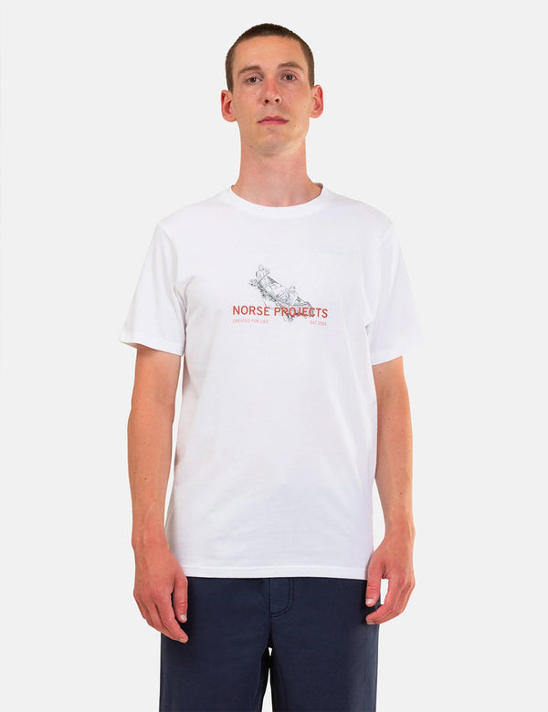 Norse Projects Niels Canoe Adventure T-Shirt - Weiß